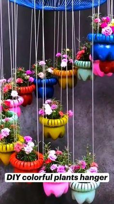 Diy Crafts For Home Decor, Diy Crafts To Do, Diy Crafts Hacks, Diy Arts And Crafts, Diy Garden Projects, Garden Crafts, House Plants Decor, Plant Decor, Flower Pot Crafts