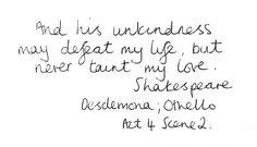 unkindness [othello]