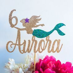 Mermaid cake topper Ariel cake topper The little mermaid Mermaid Birthday Cakes, Birthday Cake Toppers, Little Mermaid Parties, The Little Mermaid, Barbie Torte, Little Mermaid Cake Topper, Ariel Cake, Partys, Birthday Party Decorations