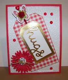 Ann Greenspan's Crafts: Red Floral Hugs