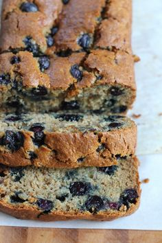 Gluten Free Blueberry Banana Bread - Hip Foodie Mom