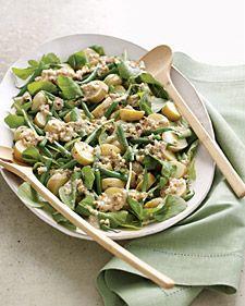 Arugula, Potato, and Green Bean Salad with Creamy Walnut Dressing Recipe   Cooking   How To   Martha Stewart Recipes
