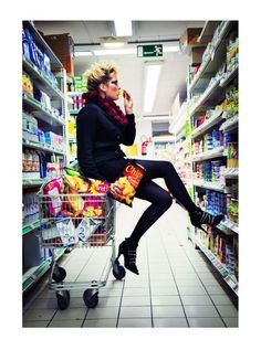 Fashion/ Jay/ Lost in the supermarket by emmanuelledescraques Blog Page, Creative Photography, Cool Photos, Leather Pants, Sporty, Popular, Shopping, Lost, Fashion