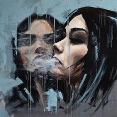 TOMASZ MACHOŃ Smoke Painting, Figurative Kunst, Young Art, Living Room Paint, Online Gallery, Online Art, New Art, Contemporary Art, Polish