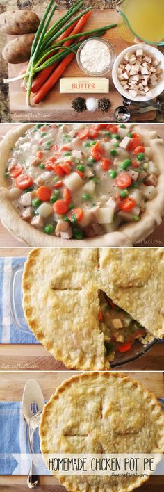 Homemade chicken pot pie. The ultimate comfort food and so easy to make!