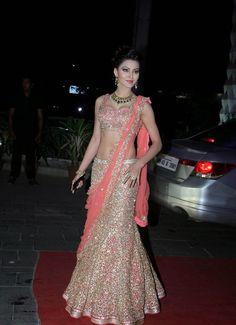 Urvashi Rautela at Tulsi Kumar's wedding. #Bollywood #Fashion #Style #Beauty