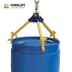 #ForkliftDrumAttachments Multi- Purpose Drum Lift/Wrench This simple three-arm design is for use with closed head 30 and 55 gallon plastic, steel and fiber drums with a top lip. Each removable arm also functions as a wrench for use on drum plugs, faucets and ring bolts. Capacity of 800 pounds. #ForkliftAccessories