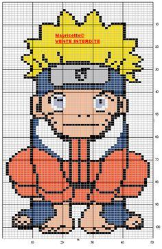 Naruto Uzumaki perler bead pattern by Mauricette