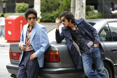 YOO Hae-jin and CHO Seung-woo in TAZZA: THE HIGH ROLLERS (Tajja, 타짜, The War of Flowers). Available on R1 DVD - Sept. 18, 2012. Tazza: The High Rollers © 2006 CJ Entertainment Inc. and IM Pictures Corp.
