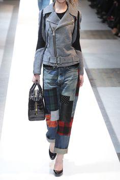 Junya Watanabe|Herringbone wool-blend biker jacket|NET-A-PORTER.COM