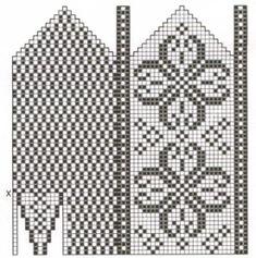 Bilderesultat for selbu mønster diagram Crochet Stitches Patterns, Crochet Chart, Crochet Designs, Stitch Patterns, Knitting Patterns, Knitted Mittens Pattern, Knit Mittens, Knitting Socks, Knitting Charts