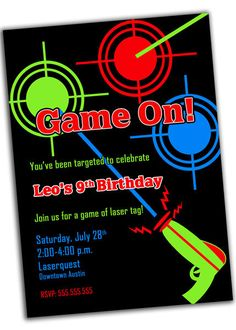Laser Tag Party Invitations as awesome invitations design