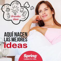 Sabías que tu #cama es el lugar donde nacen las mejores #ideas