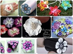 Polymer Clay Flower Tutorials - Thanks to Kater's Acres for sharing.