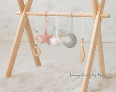 Nursery Activities, Infant Activities, Baby Play, Baby Toys, Toddler Play, Wood Baby Gym, Wooden Feather, Feather Mobile, Mobiles