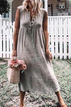 Damen Mode Träger Backen Kochen Küche Beiläufig Bequem Schürze Bib Lange Kleid