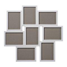IKEA - VÄXBO, Collageram för 8 kort, Plats för 8 bilder, så du kan göra ditt eget personliga kollage.Ramen är gjord av plast vilket gör den stöttålig och lättare att hantera.