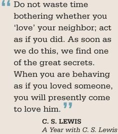 Love is a choice, not just a feeling. Love Your Neighbour, Love Thy Neighbor, Sunday School Teacher, Cs Lewis Quotes, If You Love Someone, Great Quotes, Inspirational Quotes, Motivational, Luther