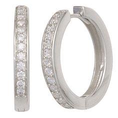 Creolen aus Silber mit vielen kleinen Zirkonias jetzt ansehen bei Alfrada-Schmuck.de - Ihr Online-Shop für exklusiven Schmuck. Besuchen Sie uns jetzt und finden Sie viele weitere schöne Schmuckstücke. Women Jewelry, Engagement Rings, My Style, Medium, Sterlingsilber, Silver Jewellery, Ear Jewelry, Engagement Ring, Watches