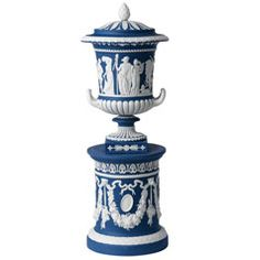 Wedgwood & Bentley Blues Borghese Vase