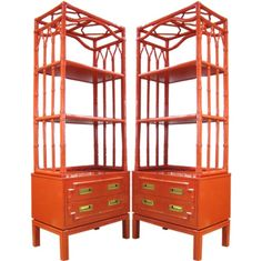 painted bamboo etagere