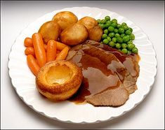 Sunday Roast...a perfect British meal. I can't wait to go back and have it again.