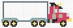 Lorry hama perler beads by Luvs 2 Knit