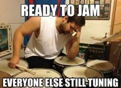 Funny pictures about Typical drummer problem. Oh, and cool pics about Typical drummer problem. Also, Typical drummer problem. Music Memes, Music Humor, Funny Music, Music Quotes, Drummer Quotes, Drummer Humor, Trommler, Band Problems, Flute Problems