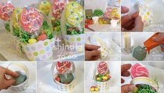 DIY Cupcake Wrap Easter Basket