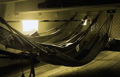 on a ship #hammocks