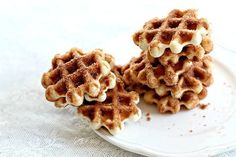 Mini cake doughnuts made in your waffle iron, easy, cute and delicious!