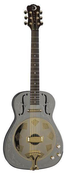 Luna Folk Bluegrass Steel Magnolia Resonator