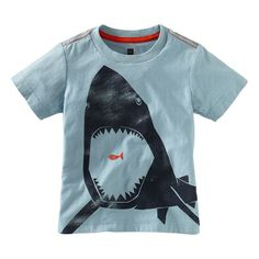 We just love, love, love sharks at my house!  My son and my daughter!  Would love to someday find a shark shirt in the girls department.  In the meantime, we'll just get this one.  From Tea Collection, sizes 6mo-12y.