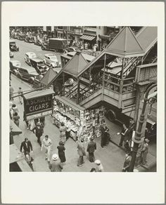 42nd Street and Sixth Avenue El, 1930's. Photo from the New York Public Library.