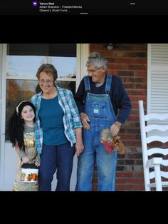 Juanita and buck with their granddaughter Dominic