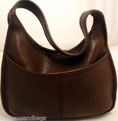 Vintage Coach Ergo Brown Leather Hobo Shoulder Bag Purse Style #9033
