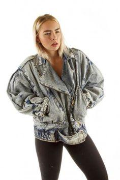 80er jahre jeansjacke blau vintage damen second i love. Black Bedroom Furniture Sets. Home Design Ideas