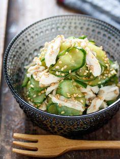 Cucumber Recipes, Bento Recipes, Veggie Recipes, Wine Recipes, Asian Recipes, Real Food Recipes, Cooking Recipes, Healthy Recipes, Seafood Appetizers