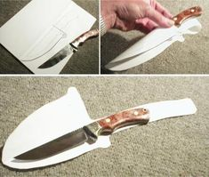 how to make a leather sheath for a knife - Google Search