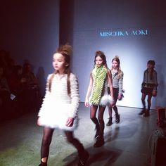 Final walk through Mischka Aoki at Kids Fashion Week  #petiteparade #mischkaaoki #kidsfashionweek #voguebambini