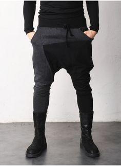 Mens Mckin Drop Crotch Jersey Pants at Fabrixquare