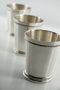Mint Julep Cups - Silver Plated & Plastic