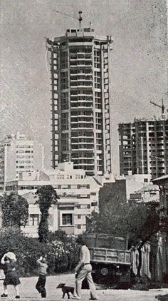Construcción de la torre Hercón. La Coruña
