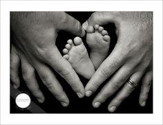 too cute:)we did this around my pregnant belly button! love around the feet also