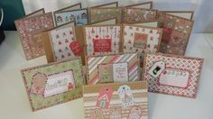 BEST Christmas Card Ideas using Recollections Gingerbread Paper Pad