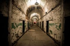 <p>It helps that it's located inside an old 19th century prison, Eastern State Penitentiary.</p>