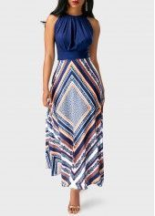 2019 New Arrival Sundresses Women's Holiday Going out Casual / Daily Sexy Maxi Slim Tunic Swing Sundress Elbise Vestidos Robe Femme - Floral Stripes Geometic Spring Navy Blue M L XL / Halter Neck Cute Dresses, Beautiful Dresses, Casual Dresses, Maxi Dresses, Cheap Dresses, Awesome Dresses, Woman Dresses, Club Party Dresses, Dress Party