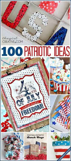 Fourth of July festive and easy DIY ideas.