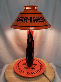 ONE OF A KIND CUSTOM DESIGN HARLEY DAVIDSON TABLE LAMP