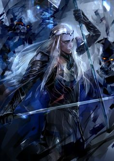 The Darkest Hour by SaigaTokihito.deviantart.com on @DeviantArt #thranduil #hobbit #fanart